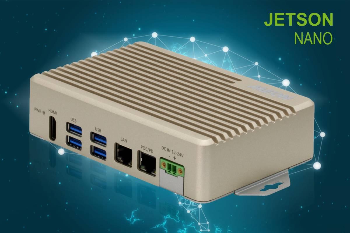 BOXER-8222AI | Fanless Embedded Box PC with NVIDIA Jetson Nano