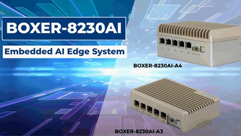 Edge AI Fanless Embedded BOX PC with NVIDIA® Jetson™ TX2 NX