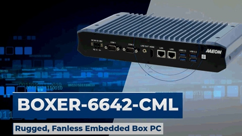 BOXER-6642-CML: Rugged, Fanless Embedded Box PC